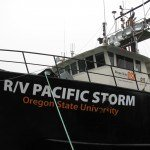Oregon State University's research vessel the R/V Pacific Storm from which the glider was deployed off Newport, OR. (Photo Credit: Jack Barth, OSU)