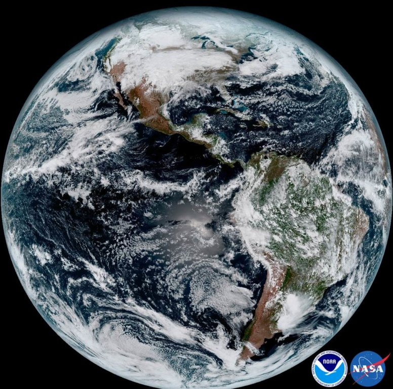 NOAA's new weather satellite GOES-16 captures stunning high-resolution imagery that will aid weather system monitoring and forecasting. (Credit: NOAA)