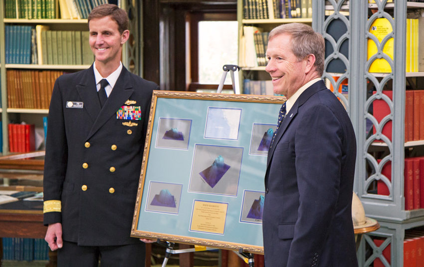Rear Adm. Tim Gallaudet (left) and Rear Adm. (ret.) Jon White (right). (Photo by Will Ramos / Ocean Leadership)